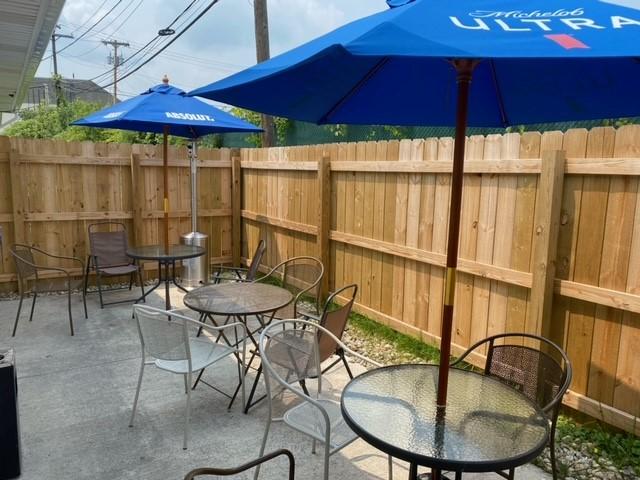 Enjoy Sunshine on our new patio!